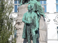 The Preseren Monument in Ljubljana